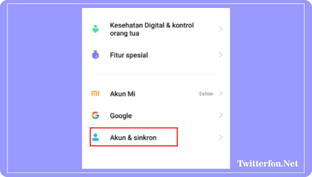cara menghapus akun google di hp xiaomi