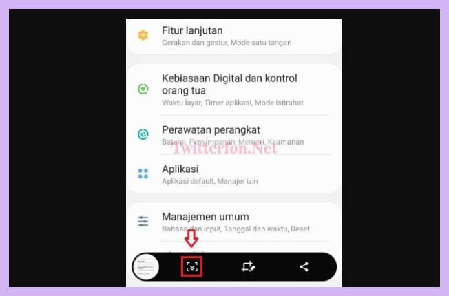 Cara Screenshot Panjang Samsung A10
