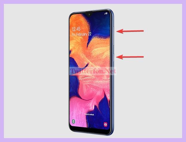 Cara Screenshot Samsung A 10 Dengan Tombol Power + Volume Up